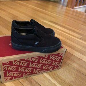 Vans GUC black slide on toddler size 6